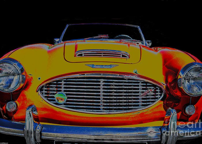 Austin Healey 100 Greeting Card featuring the photograph Austin Healey 100 by Mitch Shindelbower