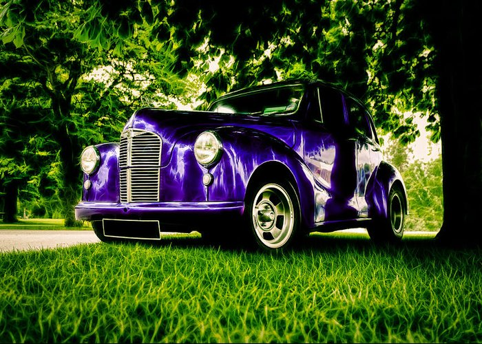 British Hot Rod Greeting Card featuring the photograph Austin Hot Rod by motography aka Phil Clark