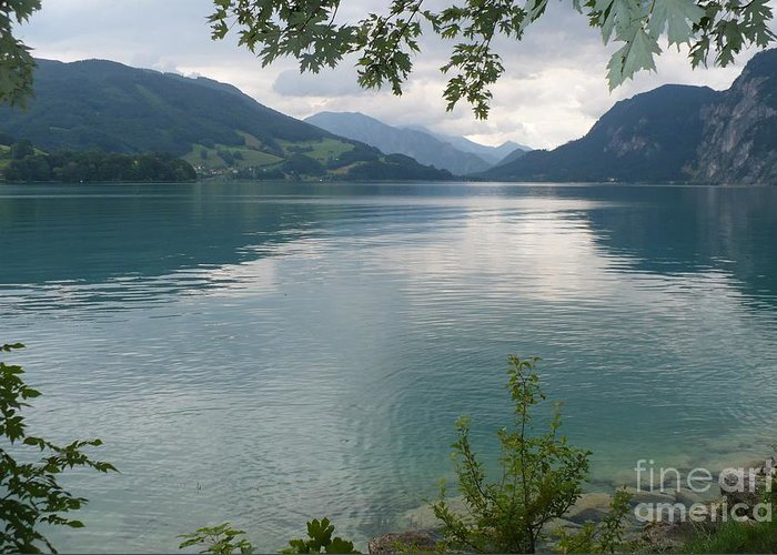Water Greeting Card featuring the photograph Austrian Lake by Carol Groenen