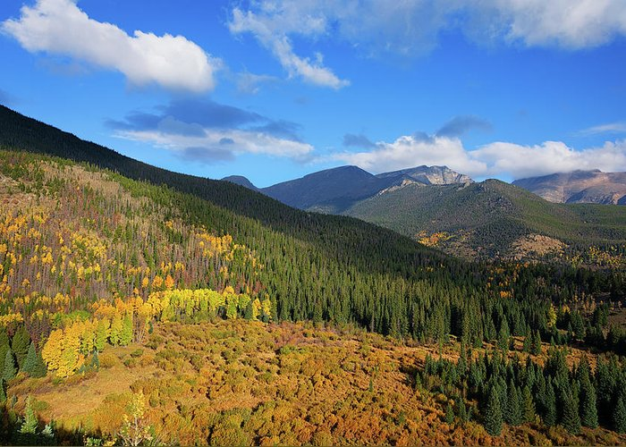 Scenics Greeting Card featuring the photograph Autumn Color In Colorado Rockies by A L Christensen