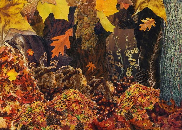 Autumn Greeting Card featuring the mixed media Autumn by Denise Mazzocco