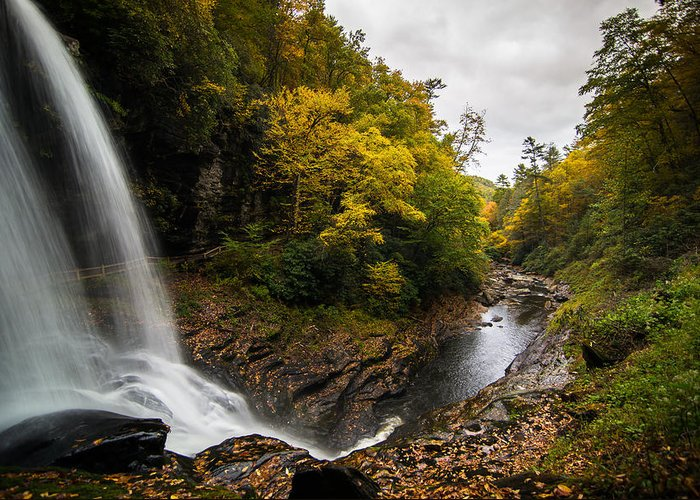 Waterfall Greeting Card featuring the photograph Autumn Flow by Serge Skiba