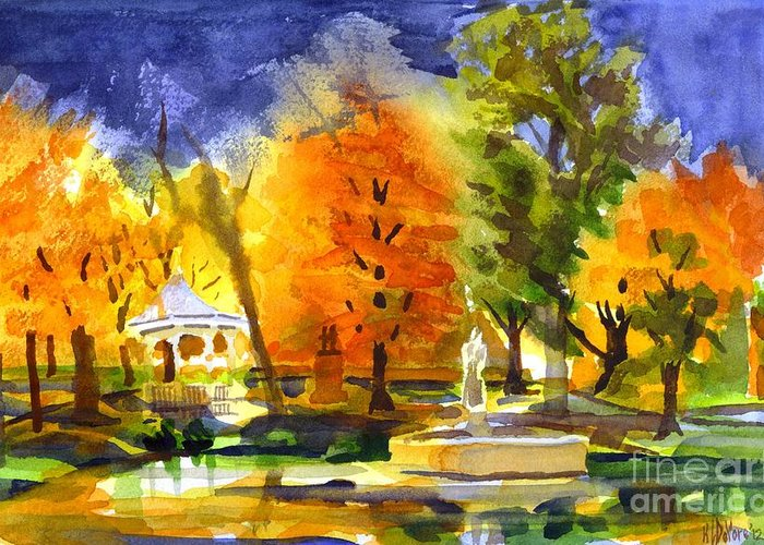 Autumn Gold 2 Greeting Card featuring the painting Autumn Gold 2 by Kip DeVore