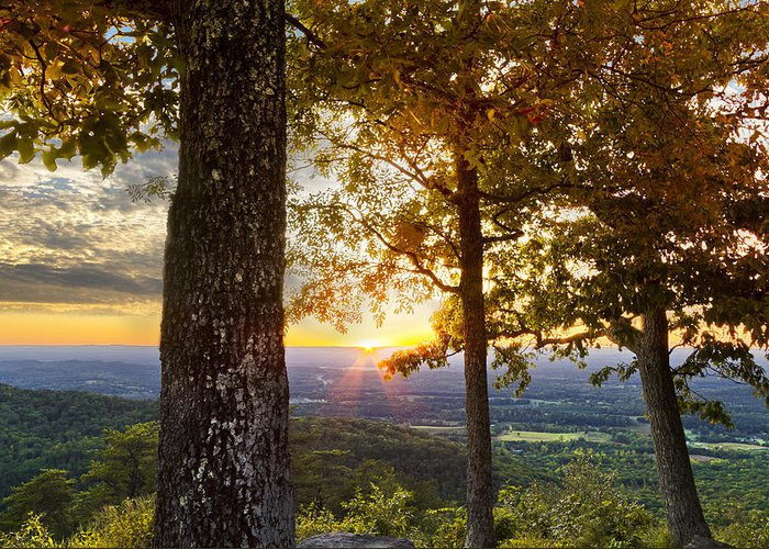 Appalachia Greeting Card featuring the photograph Autumn Highlights by Debra and Dave Vanderlaan