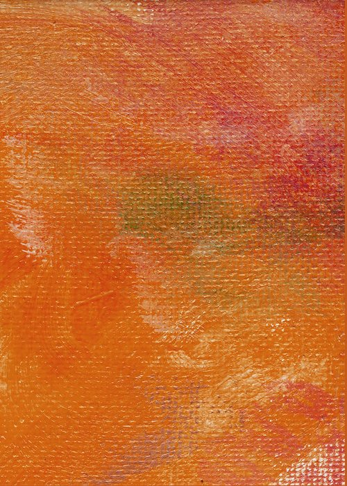 Abstract Greeting Card featuring the painting Autumn Hue by L J Smith