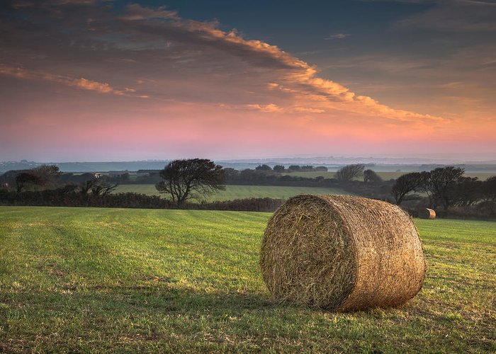 Landscape Greeting Card featuring the photograph Autumn In Cornwall by Christine Smart