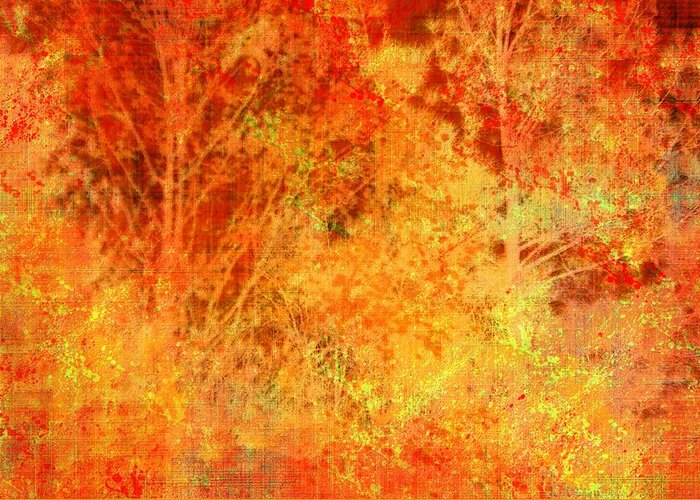 Autumn Greeting Card featuring the photograph Autumn In The Country by Suzanne Powers