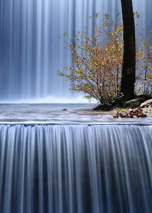 Waterfall Greeting Card featuring the photograph Autumn Interlude by Maria Kaimaki