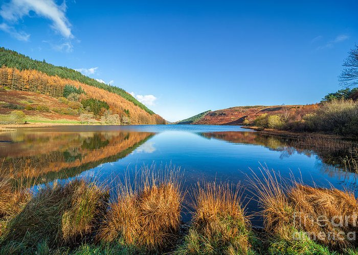 Betws Y Coed Greeting Card featuring the photograph Autumn Lake by Adrian Evans