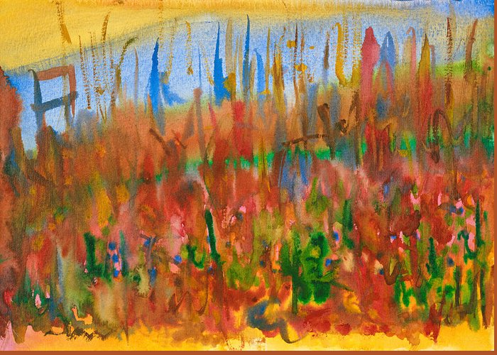 Fall Greeting Card featuring the painting Autumn Leaves by Bjorn Sjogren