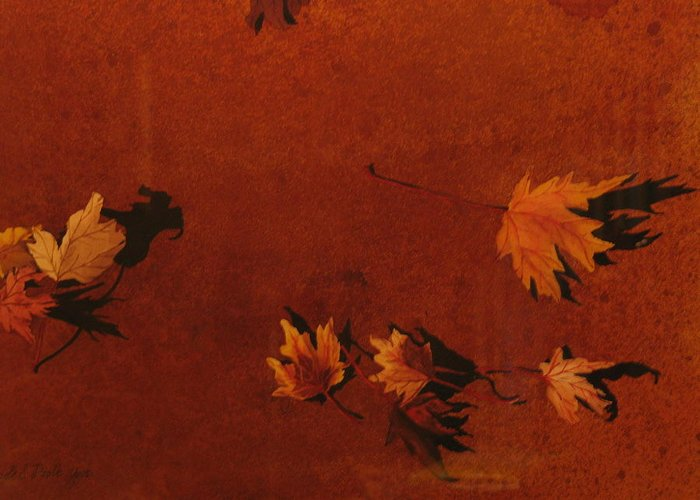 Leaves Greeting Card featuring the painting Autumn Offering by Carole Poole