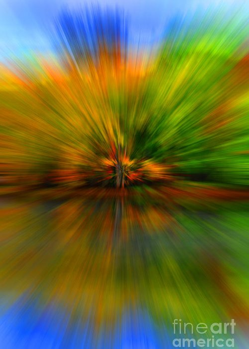 Diane Berry Greeting Card featuring the photograph Autumn Pixel Burst by Diane E Berry
