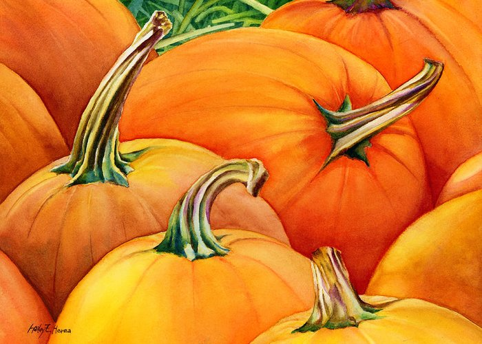 Harvest Deco Paintings Greeting Cards