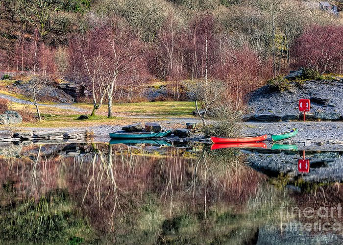 Autumn Greeting Card featuring the photograph Autumn Reflections by Adrian Evans