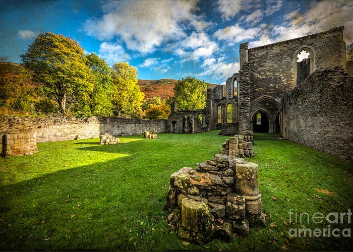 13th Century Greeting Card featuring the photograph Autumn Ruins by Adrian Evans