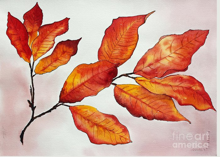 Branches Greeting Card featuring the painting Autumn by Shannan Peters