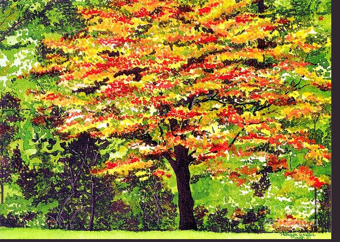 Fine Art Greeting Card featuring the painting Autumn Splendor by Patricia Griffin Brett