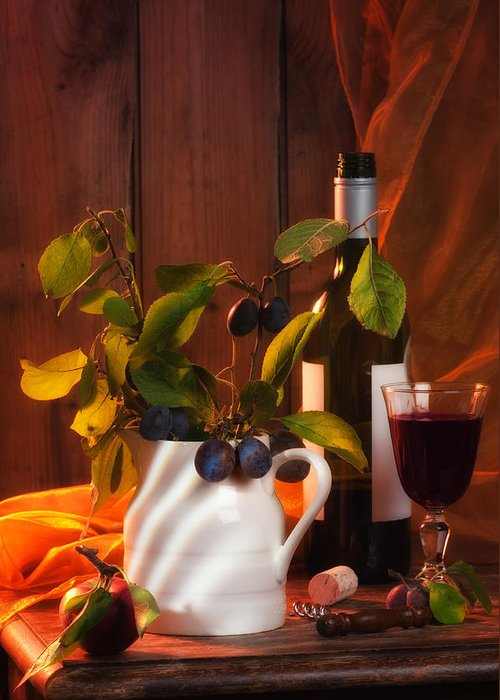 Autumn Greeting Card featuring the photograph Autumn Still Life by Amanda Elwell