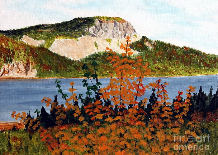 Barbara Griffin Greeting Card featuring the painting Autumn Sunset On The Hills by Barbara Griffin