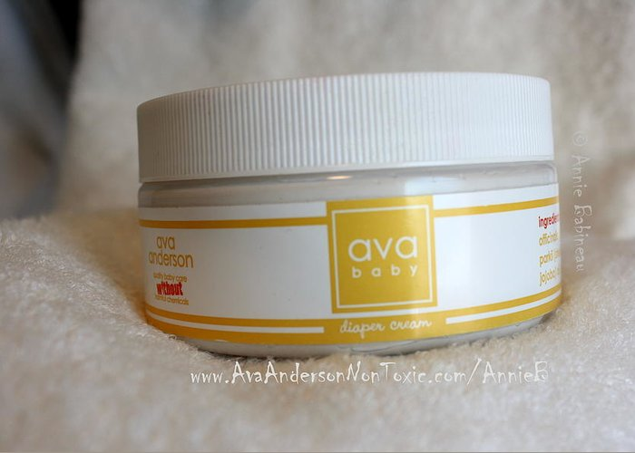Ava Greeting Card featuring the photograph Ava Anderson Nontoxic Diaper Cream by Annie Babineau