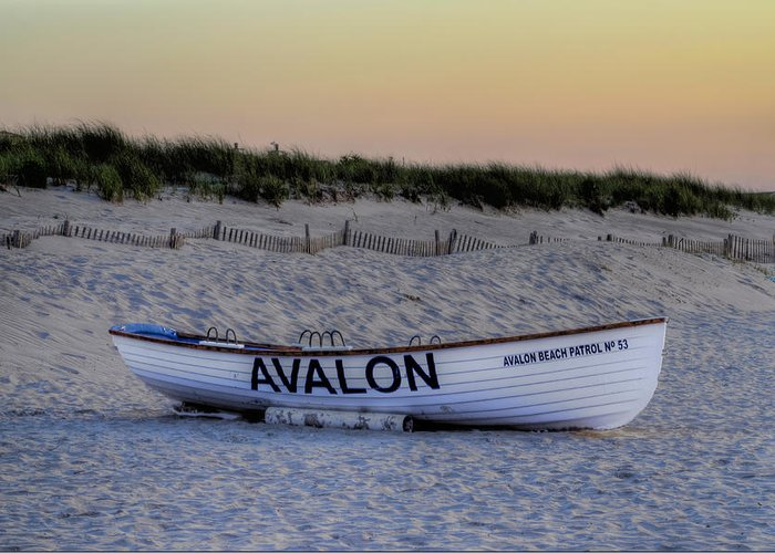 Avalon Greeting Card featuring the photograph Avalon Lifeboat by Bill Cannon