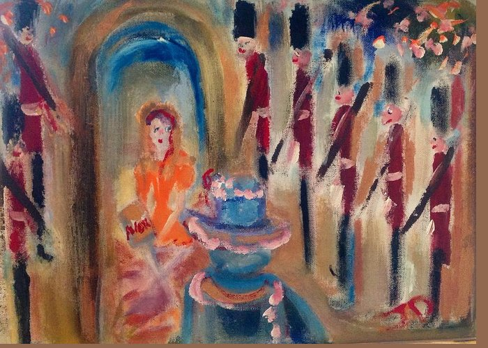 Mam Greeting Card featuring the painting Avon Calling Mam by Judith Desrosiers