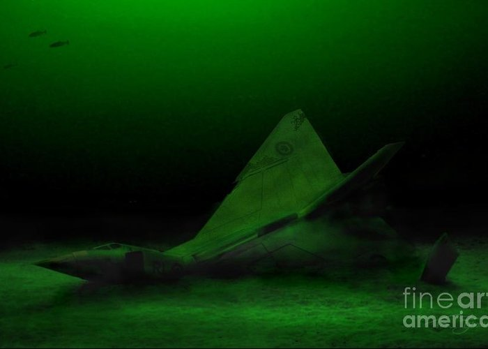 Avro Arrow Greeting Card featuring the photograph Avro Arrow In Lake Ontario by Tom Straub