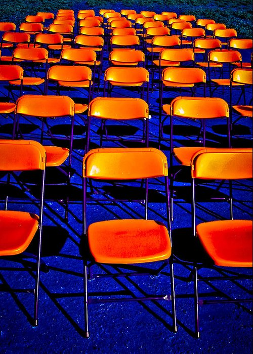 Chairs Greeting Card featuring the photograph Awaiting an Audience by Jim Painter