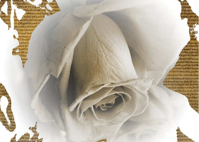 Greeting Card featuring the mixed media Awe II by Yanni Theodorou