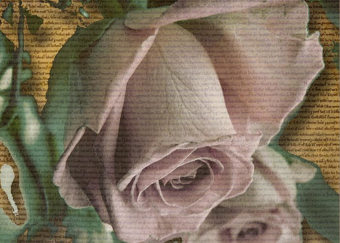 Greeting Card featuring the mixed media Awe by Yanni Theodorou