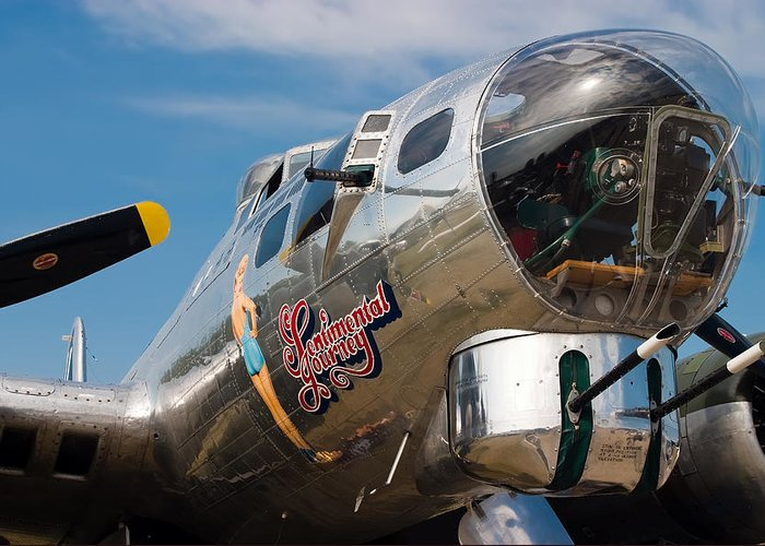 3scape Photos Greeting Card featuring the photograph B-17 Flying Fortress by Adam Romanowicz