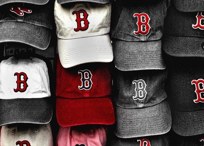 Boston Greeting Card featuring the photograph B For Bosox by Joann Vitali