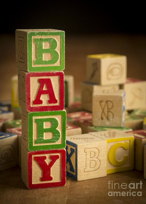 Blocks Greeting Card featuring the photograph Baby Blocks by Edward Fielding