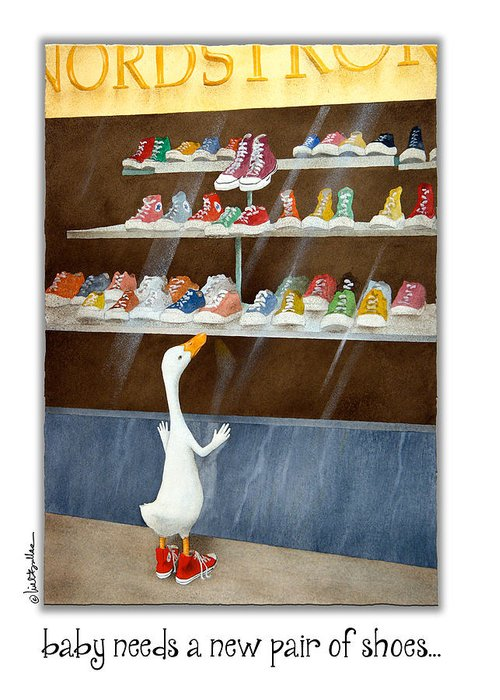 High Top Tennis Shoes Greeting Cards