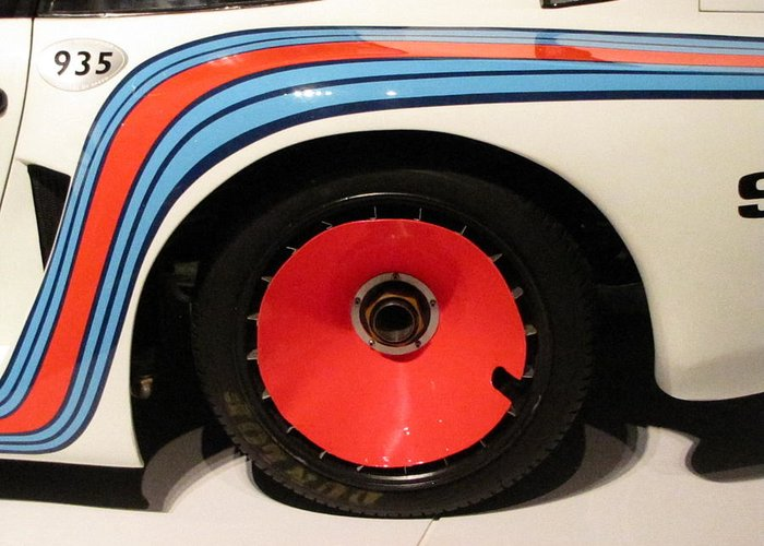 1977 Porsche 935 baby Greeting Card featuring the photograph Baby Wheel by Kelly Mezzapelle