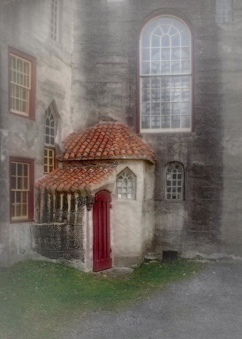 Byzantine Greeting Card featuring the photograph Back Door To The Castle by Susan Candelario