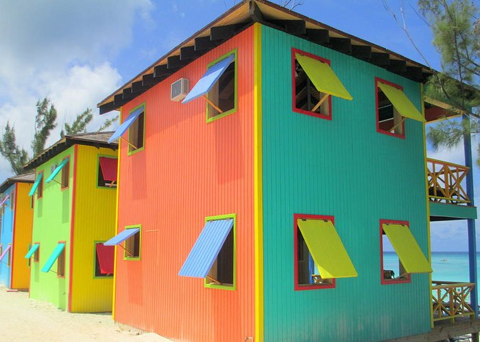 Caribbean Corner Greeting Card featuring the photograph Back Of Cabins 1 by Randall Weidner