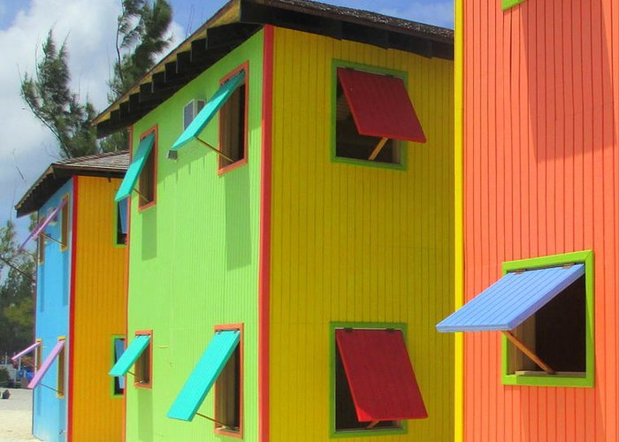 Caribbean Corner Greeting Card featuring the photograph Back Of Cabins 2 by Randall Weidner