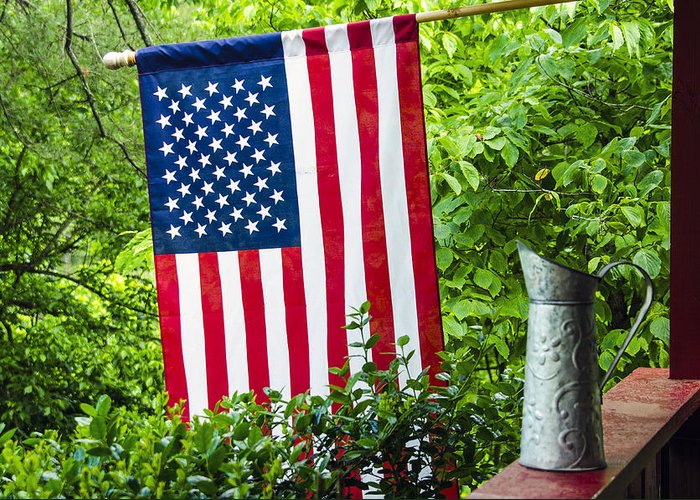 American Greeting Card featuring the photograph Back Porch Americana by Carolyn Marshall