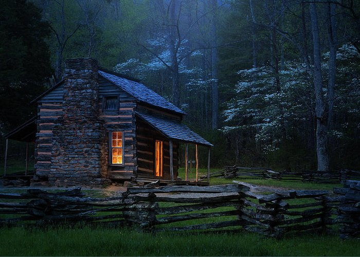 Cabin Greeting Card featuring the photograph Back To Good Old Days by J&w Photography