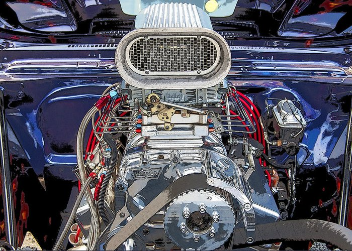 V8 Greeting Card featuring the photograph Bad Boy Blower Motor by Rich Franco
