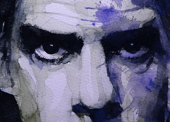 Nick Cave Greeting Card featuring the painting Bad Seed by Paul Lovering