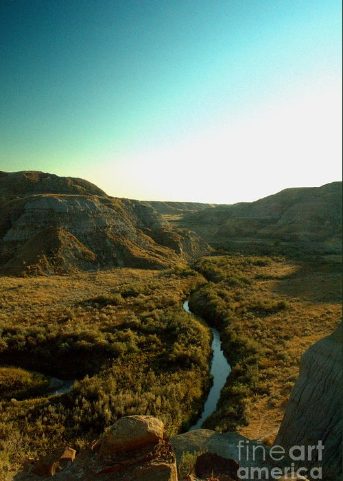 Coulee Greeting Card featuring the photograph Badlands Coulee by Matthew Naiden