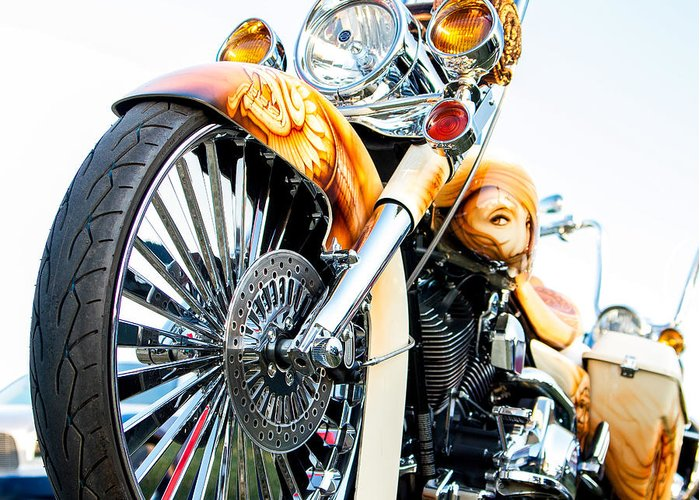 Motorcycle Greeting Card featuring the photograph Bagger by David Rodriguez