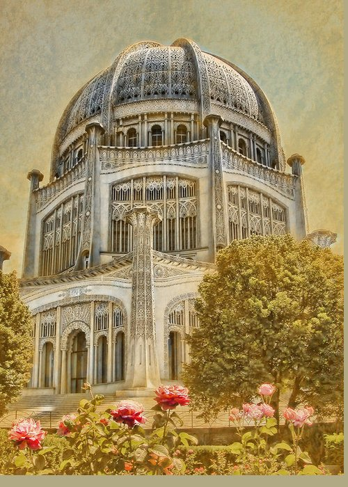 Architecture Greeting Card featuring the photograph Baha'i Temple In Wilmette by Rudy Umans