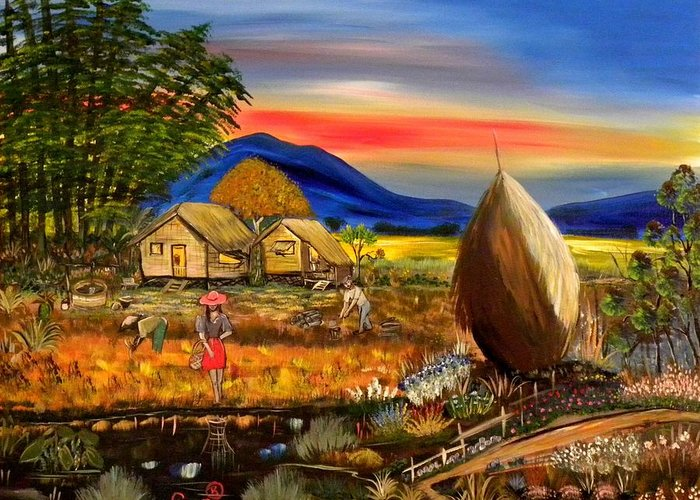 Bahay Kubo Philippines Greeting Card For Sale By Anna Baker