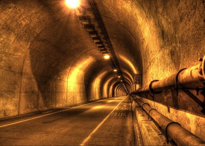 Baker Barry Tunnel Greeting Card featuring the photograph Baker Barry Tunnel by Mike Ronnebeck