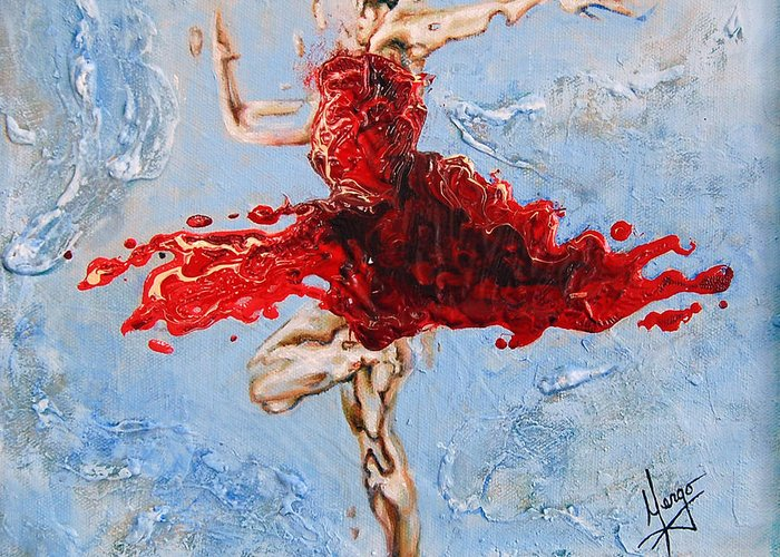 Ballet Greeting Card featuring the painting Balance by Karina Llergo