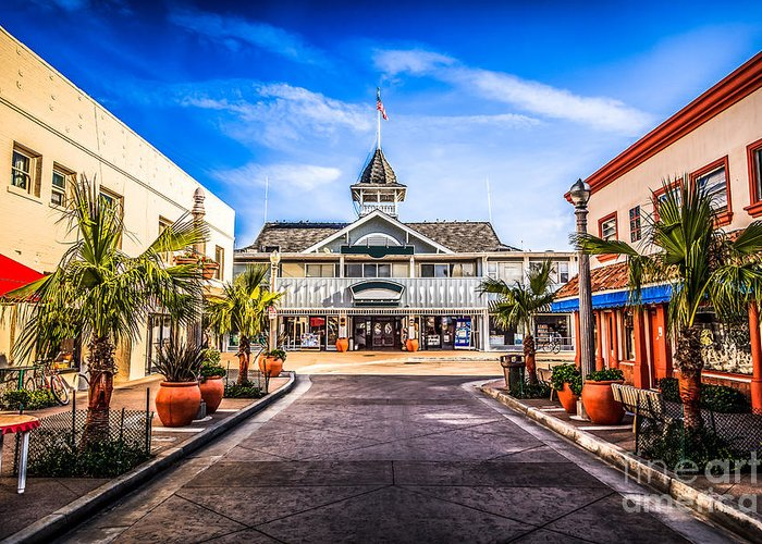 America Greeting Card featuring the photograph Balboa Main Street In Newport Beach Picture by Paul Velgos