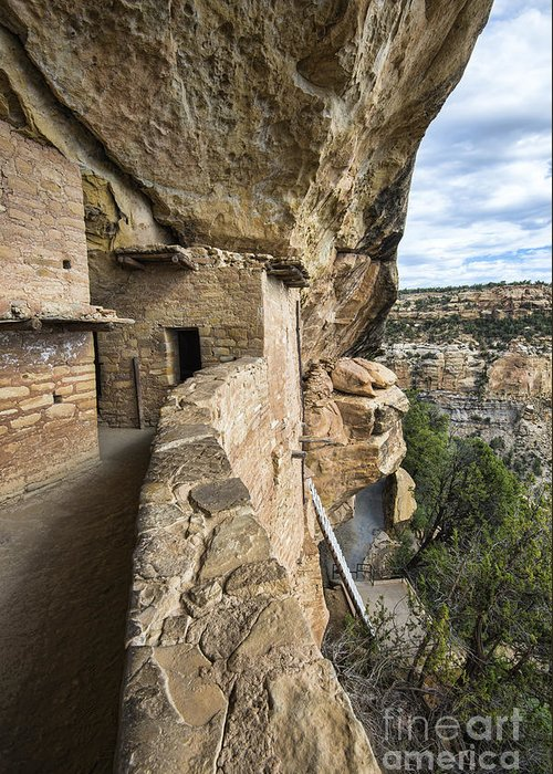 Mesa Verde National Park Greeting Card featuring the photograph Balcony Houes 2 by Keith Ducker